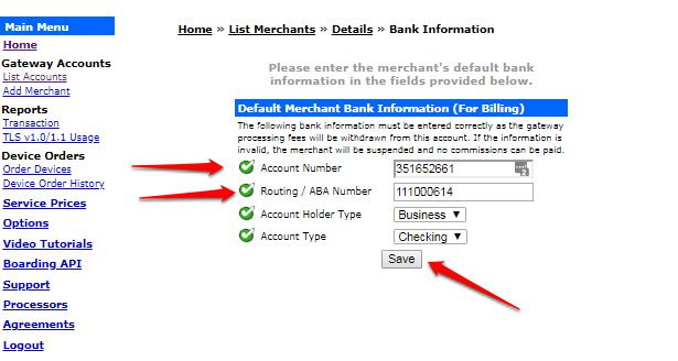 How to Update a Bank Account in the Easy Pay Direct Gateway